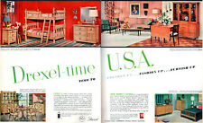 Drexel Furniture NEW TODAYS LIVING Circle D TRAVIS COURT Biscayne 8-Page 1954 Ad