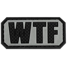 WTF PVC Morale Patch 3D Tactical Badge Hook and Loop #43