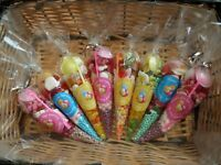 10 x Large  Pre Filled Sweet Cones, min 140 grams for Birthdays, celebrations