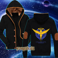 Anime Gundam Cool Unisex Winter Casual Jacket Sweatshirt Coat Hoodie Warmth #02