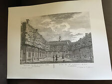 "**RARE** 18"" x 13.75"" P FOUQUET JUNIOR DUTCH ENGRAVING PRINT OF AMSTERDAM (88)"