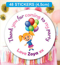 48 Birthday Party Bag Stickers Sweet cone Labels Fun Personalised