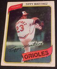TIPPY MARTINEZ 1980 Topps Unlisted ERROR #706 Circle Spots OddBaLL Variation SP