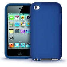 Blue Silicone Skin Case for Apple iPod Touch 4th Gen 4G 8/32/64GB iTouch Cover