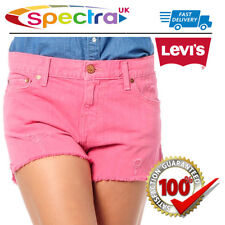 "Levi's Women's Classic Vintage Pink Fringed Denim Short Shorts - 26"" UK Size 4"