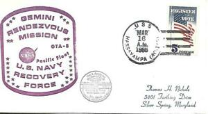 HASSAYAMPA (AO-145) 16 March 1966 Locy Type 2(n+)(USS) Gemini 8 Pacific Fleet
