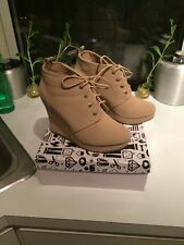 Wedge Tan Booties by Bamboo Woman's Size 10