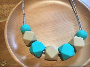 Silicone Sensory (was teething) Necklace for Mum Jewellery Beads Aus Gift Oat