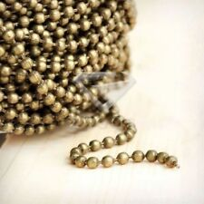 4m Ball Chain Antique Brass Bronze Unfinished Chains Link 2.4x2.4 neckalce chain