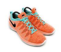 Nike 2014 Men's Flyknit Llunar2 Running Training Orange Shoe 620465-803 Sz 10.5
