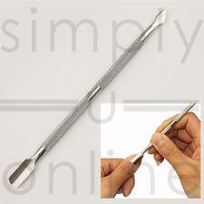 Empujador de cutícula uñas de acero inoxidable Pro/Manicura Pedicura Cutícula Cuchara