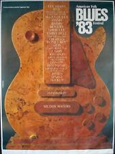 AMERICAN FOLK AND BLUES 1983 Vintage German A1 Concert poster GUNTHER KIESER