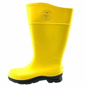 Servus By Honeywell Mens Work Safety Boots Yellow Pull On United States 5 New