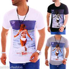 ZAHIDA JEEL Herren T-Shirt Beach Sommer Designer Shirt Club Party Clubwear NEU