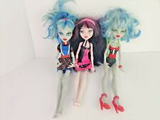 Lot of 3 Monster High Dolls - Draculaura - Kids Collectible Toy Figures