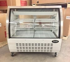 """DELI CASE NEW 48"""" GLASS SHOW CASE REFRIGERATOR COOLER DISPLAY Bakery display 4'"""