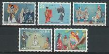 Ryukyu Islands Japan 1970 Sc# 195-99 set Classic opera MNH