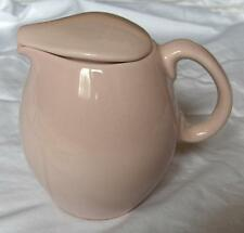 Russel Wright Iroquois Casual Pink sherbet Mid-century Modern covered pitcher-NR