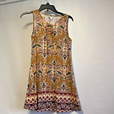 NWT About A Girl Juniors Sz XS 1/2 tie Dress Above Knee Ret $40