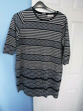 PER UNA WOMAN'S NAVY MIX DRESS UK SIZE 20 EUR 48