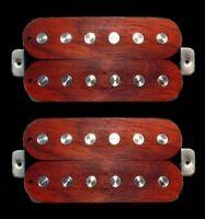 Guitar Parts GUITARHEADS PICKUPS LUMBERBUCKER Wood Top HUMBUCKER SET 2 ROSEWOOD