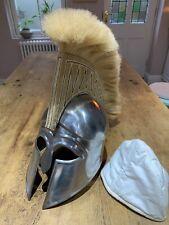 More details for trojan spartan troy greek 1:1 helmet armor 300 with plume