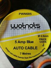 Pearl PWN685 Car Auto Electrical Wiring Single Mini Cable Reel 5Amp x 7m - Blue