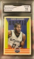 Kawhi Leonard Rookie Card 2012 Panini Past And Present Gem Mint 10 Toronto MVP