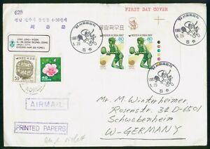MayfairStamps Korea 1987 Racket Sports Cover wwp80697