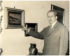 Italia, Giacomo Carboni, generale e agente segreto italiano Vintage silver print