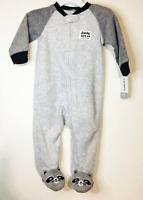 Baby Carters Cute Raccoon Zip Up Fleece Sleepwear Jumpsuit for 9M NWT