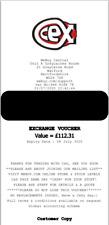 £112.31 CEX uk.webuy.com Online Voucher Code PDF
