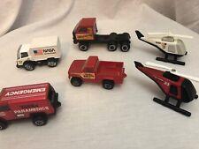 LOT of 6 Vintage TONKA Trucks Helicopters Semi Van Steel and Plastic