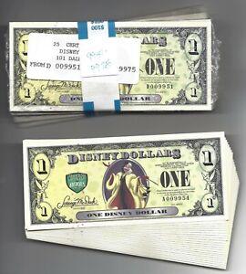 2013 DISNEY DOLLAR 22 - 5 way  4 digit Sets  /  3 - 4 way 4 digit Sets 122 Notes