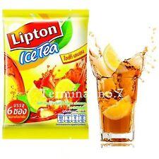 5Lipton Ice Tea Lemon Tea Powder Mix Ready to Drink 1 pack 6 sachets x15g