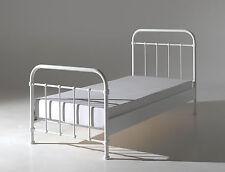 "Vipack: Metallbett ""NEW YORK"" 90 x 200 weiß + Lattenrost - Einzelbett Jugendbett"