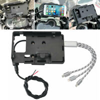 Mobile Phone Holder GPS Mount Bracket USB Charger For BMW F700/800GS R1200GS ADV