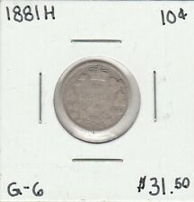 Canada 1881H 10 Cents