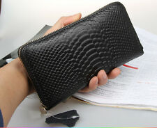 Real Leather Women Zip Around Clutch Wallet Female Purse Credit Card Holder