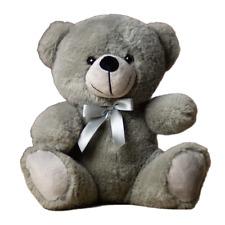"9"" Gray Plush Teddy Bear Stuffed Animal Toy Gift New"