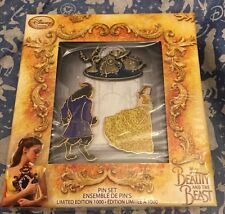 Beauty And The Beast Limited Edition Pin Set 3 Pins 2017 Live Action Film Disney
