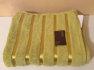 BNWT Fenn Wright Manson Extra Thick Cotton Green Medium Bath Towel.
