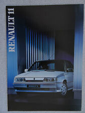Renault 11 brochure 1986 - TC, TL, GTL, Automatic, TXE, Turbo, GTD.