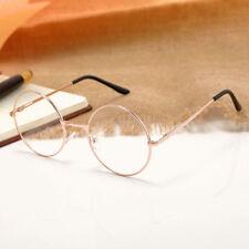 Vintage Unisex Metal Frame Clear Round Lens Glasses Nerd Spectacles Eyewear