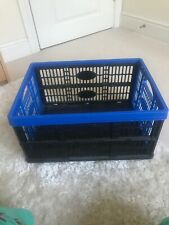 Small collapsible folding plastic crate storage box, Really Useful