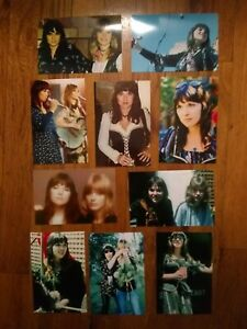 "HEART Ann Nancy Wilson 10 Rare Tour 1976 1977 stunning Glossy PHOTOS PRINTS 4x6"""
