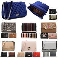 Women's Velvet Evening Handbag Ladies Clutch Messenger Crossbody Shoulder Bag