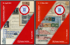 UPU Universal Postal Union Two Specialized Auction Catalogs Corinphila 2012-3