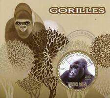 Madagascar 2015 CTO Gorillas Gorilla 1v S/S Apes Wild Animals Stamps