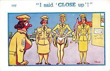 POSTCARD  COMIC   RISQUE   Army  Ladies  Parade  Panties  Nylons